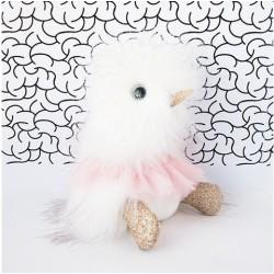 Pato de peluche blanco con tutú 30 cm