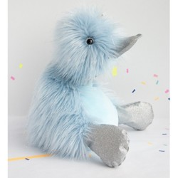 Pato de peluche azul 30 cm (Galaxy)