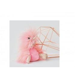 Llavero de pato de peluche rosa (Comete)