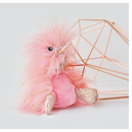 Pato de peluche rosa 18 cm (Comete)