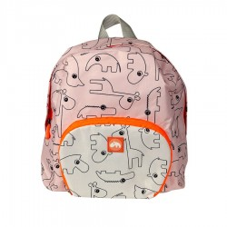 Mochila rosa con animalitos plegable