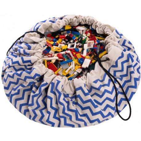 Sacos de juguetes Play & Go Zigzag azul