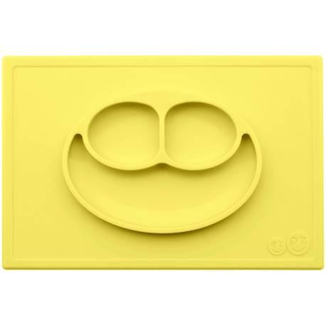 Vajilla infantil de silicona The Happy Mat amarillo limón