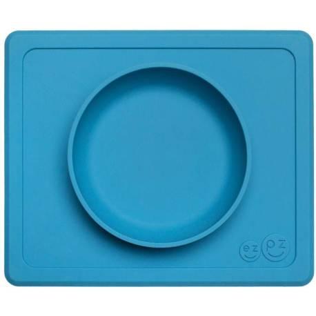 Vajilla infantil de silicona Mini Bowl azul