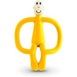 Mordedor de silicona Matchstick Monkey amarillo en forma de mono