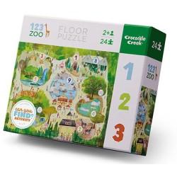 Puzle 24 piezas de 123 Zoo