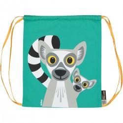 Mochila de cordones verde Lémur