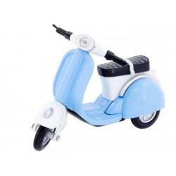 Motocicleta Scooter azul
