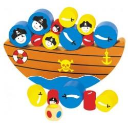 Juego de equilibrio del barco pirata