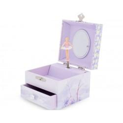 Caja musical cuadrada de la bailarina