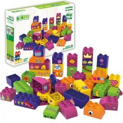 Bloques de construcción eco-friendlies de formas de princesas (40 piezas)