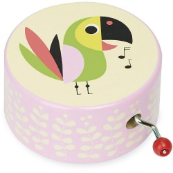 Caja de música de madera tucán