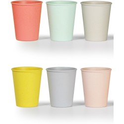 Set de 6 vasos colores pastel