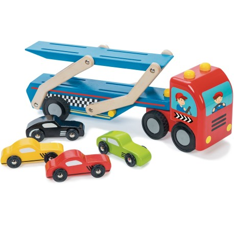 Camión para transportar coches de carreras