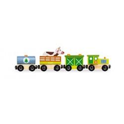 Tren de madera de la granja