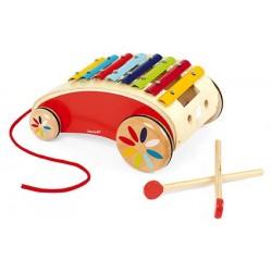 Xilófono de arrastre de madera
