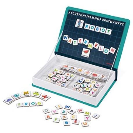 Maletín-libro magnético para aprender el alfabeto inglés
