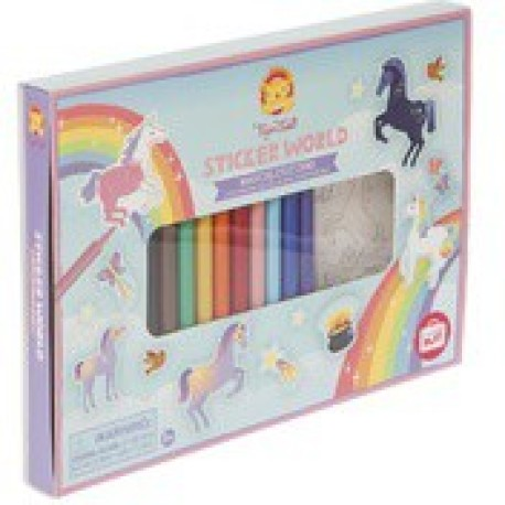 Pegatinas para colorear del mundo mágico de los unicornios