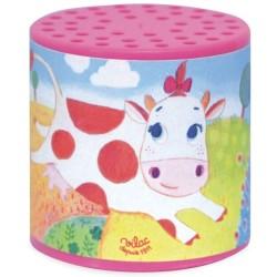 Caja rosa de sonido de vaca