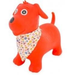 Perro Skippy rojo con pañuelo