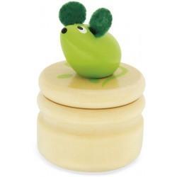 Caja de madera para guardar los dientes del Ratoncito Pérez verde
