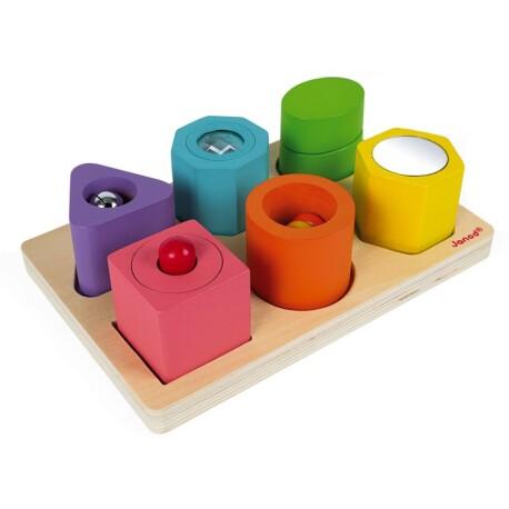 Puzle de 6 cubos sensoriales