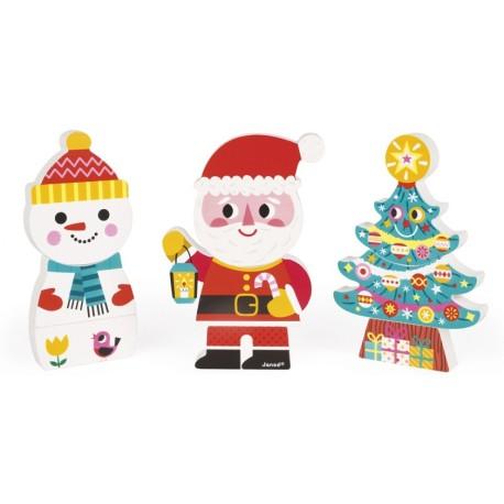 Figuritas de animales magnéticos (Papá Noel)