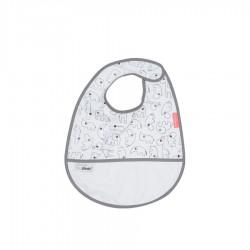 Babero impermeable blanco con velcro (Contour)