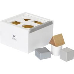 Caja de bloques de madera blanca (Wood Block Box white)