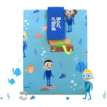 Porta bocadillos Boc'n'Roll Kids Ocean (azul)