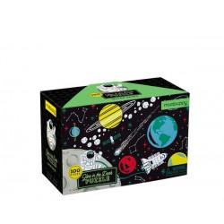 Puzle fluorescente de 100 piezas del espacio