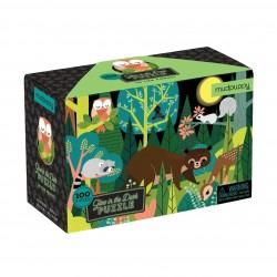 Puzle fluorescente de 100 piezas de animales del bosque