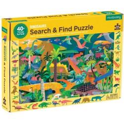 """Puzle """"busca y encuentra"""" de 64 piezas de los dinosaurios"""