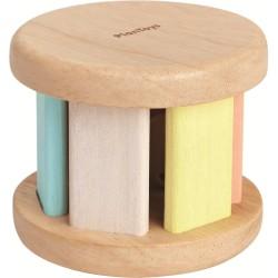 Roller de madera con sonidos en colores pastel
