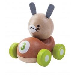 Conejo el piloto de madera