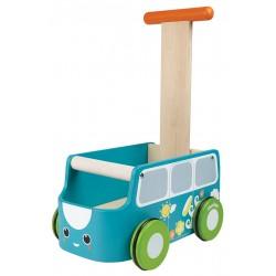 Andador furgoneta azul de madera
