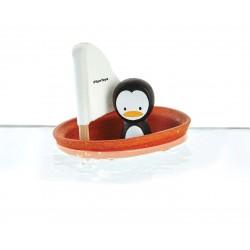 Barquito con pingüino