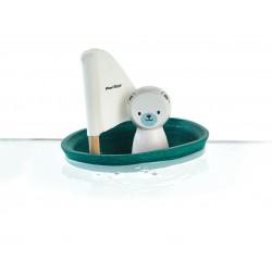Barquito con oso polar