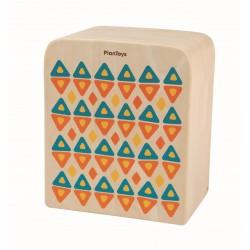 Cajón de percusión de madera