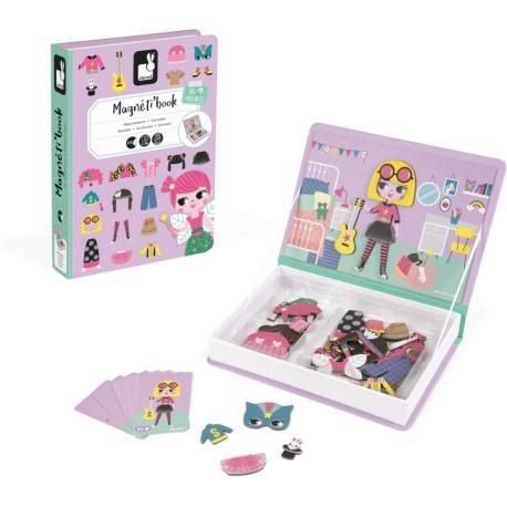 Maletín-libro magnético para crear disfraces de niña