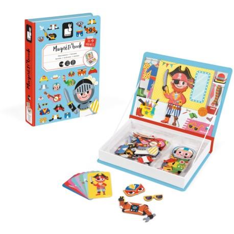 Maletín-libro magnético para crear disfraces de niño