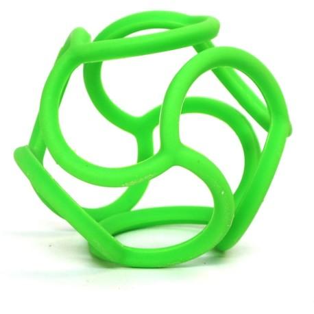 Mordedor bolli de silicona verde