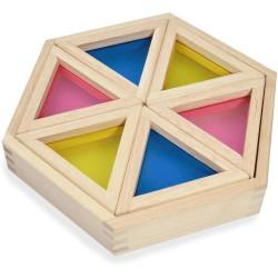 Hexágono de triángulos de color